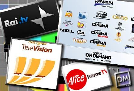 Premium on Demand, Fastweb TV, Alice Home TV e Rai.tv