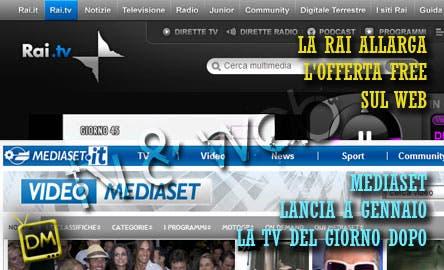 le novità Rai e Mediaset