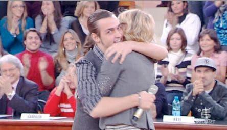Valerio Scanu e Maria De Filippi (Amici, Sanremo)