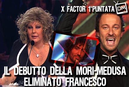 Xfactor 3 (Francesco Facchinetti, Claudia Mori, Francesco Gramegna)